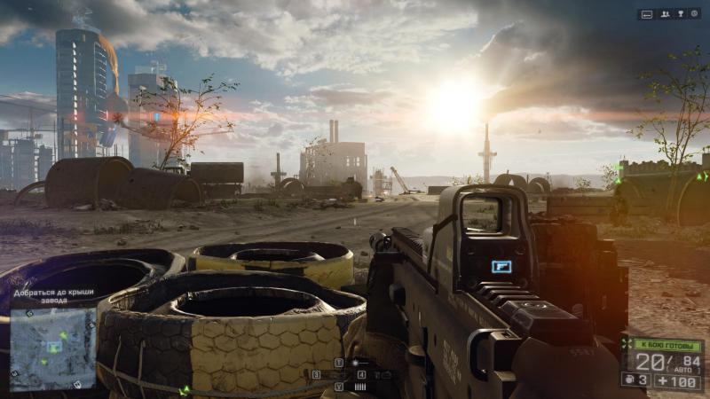 Вот так вот выглядит Battlefield 4 при игре на Brix Pro. Да. Ничем не отличается от игры на обычном компьютере.